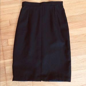 Bespoke Wool Tweed Pencil Skirt